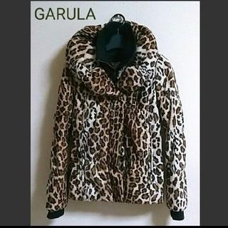 【未使用】GARULA ボリュームえり ヒョウ柄ダウンジャケット 中綿