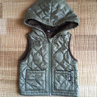 ニシマツヤ(西松屋)の西松屋 フード付中綿ベスト ファスナータイプ 80cm(ジャケット/コート)