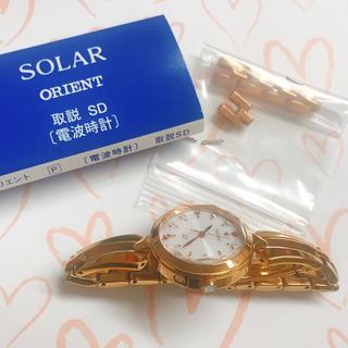 オリエント(ORIENT)のORIENT iO スウィートジュエリー ソーラー電波 ホワイト(腕時計)