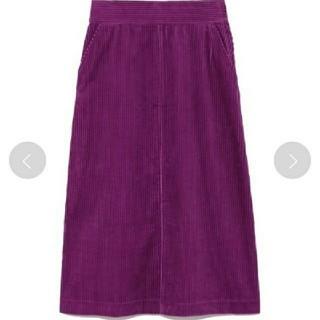 ミラオーウェン(Mila Owen)のMila Owen コーデュロイスカート タグ付き(ロングスカート)