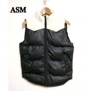 特価!  ASM アトリエサブメン メンズ ベスト  中綿 48 M 白黒(ベスト)