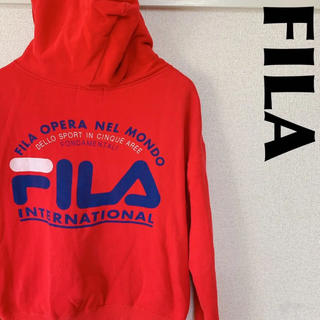 フィラ(FILA)の古着屋購入 FILA フィラ ジップパーカー デカロゴ RED 1116(パーカー)