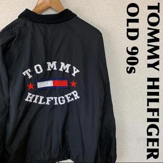 トミーヒルフィガー(TOMMY HILFIGER)のTOMMY トミーヒルフィガー  90s ナイロンジャケット デカロゴ 1214(ナイロンジャケット)