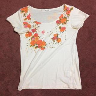 ミスティウーマン(mysty woman)のミスティーウーマン*花柄Tシャツ(Tシャツ(半袖/袖なし))