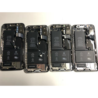 アイフォーン(iPhone)の【部品取り】iPhone X 筐体ガラ 4台セット④(スマートフォン本体)