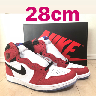 AIR JORDAN 1 origin story spiderman 28cm(スニーカー)