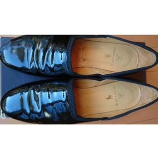 ラルフローレン(Ralph Lauren)の靴  黒 エナメル オペラシューズ(ローファー/革靴)