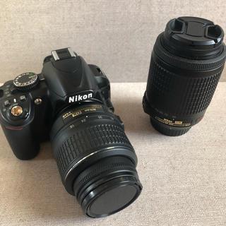 ニコン(Nikon)の【美品】Nikon D3100 ダブルレンズ(デジタル一眼)