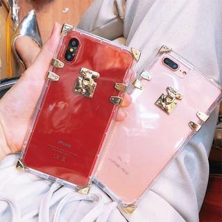 iphone ケース カバー ラグジュアリー アンティーク ゴールド クリア(iPhoneケース)