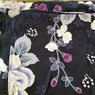 浴衣のみ 紫に花柄(浴衣)