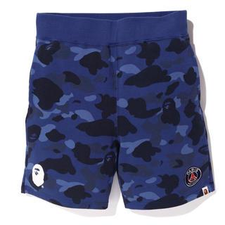アベイシングエイプ(A BATHING APE)のbape×psg sweat short pants(ショートパンツ)