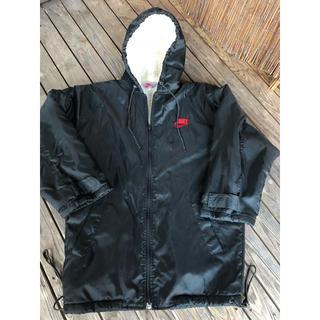 ナイキ(NIKE)の NIKE  90s ベンチコート M 黒赤 ブレッド 古着(ナイロンジャケット)