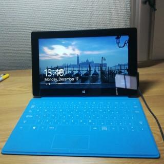 マイクロソフト(Microsoft)のSurface RT 64GB Touch Cover(ブルー)&充電器 付(タブレット)