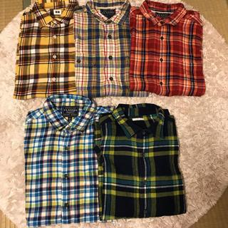 ユニクロ(UNIQLO)のフランネルチェックシャツセット 5枚 ユニクロ GU(シャツ)