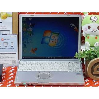 パナソニック(Panasonic)のノートパソコン レッツノート Windows10 動画編集 DVD作成可(ノートPC)