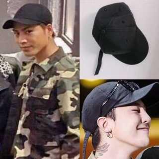ロングベルト キャップ ブラック ユニセックス フリーサイズ  韓国ファション(キャップ)