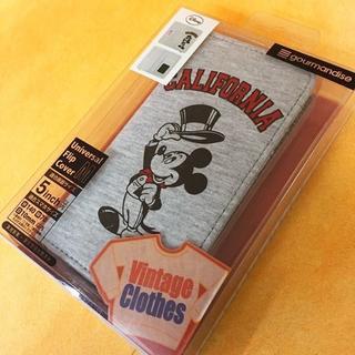 ディズニー(Disney)のミッキー 多機種対応 フリップ サイズM DN279(Androidケース)