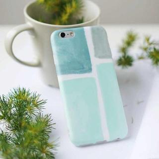 iPhone6Plus iPhone6s plus 水彩 タイル風 ソフトケース(iPhoneケース)