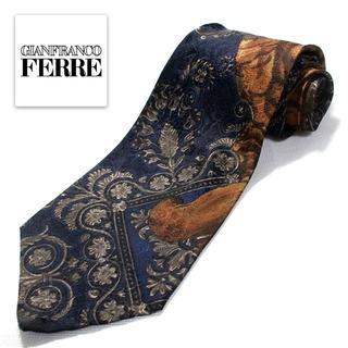 ジャンフランコフェレ(Gianfranco FERRE)の極美品 フェレ GIANFRANCO FERRE 高級ネクタイ ブラック 特価(ネクタイ)