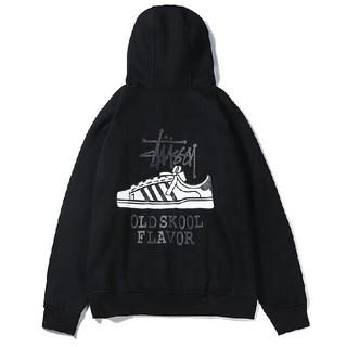 超人気新品STUSSY 刺繍バーカー 男女兼用(パーカー)