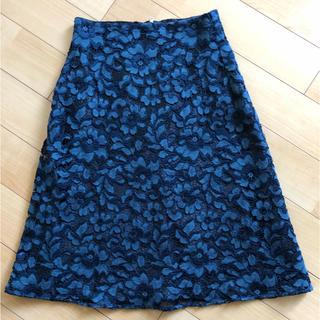 ザラ(ZARA)のZARA 花柄 レース フレアスカート XS ✨美品✨(ひざ丈スカート)