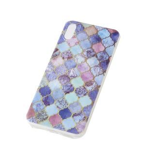 iPhoneX/6/5/SE パープル 紫 モロッカン ケース カバー(iPhoneケース)