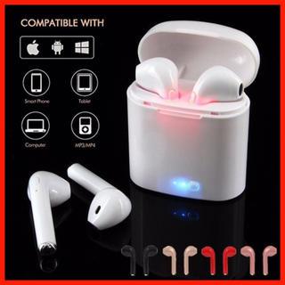 新品 ワイヤレス イヤホン ヘッドホン Bluetooth ホワイト 両耳(ヘッドフォン/イヤフォン)