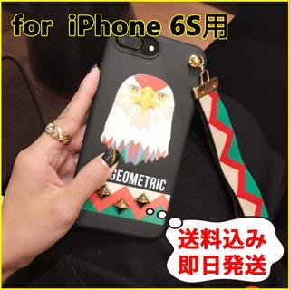 【iPhone 6S】タカ スマホケース アニマル柄 スタッズ クール(iPhoneケース)