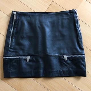 ザラ(ZARA)のZARA リアルレザー ミニ タイトスカート XS ✨美品✨(ミニスカート)