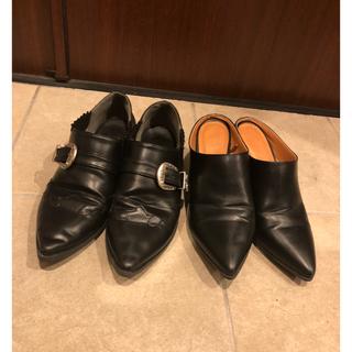 ジーユー(GU)の黒 パンプス ローファー セット まとめ売り(ローファー/革靴)
