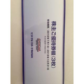 セントラルスポーツ 株主ご優待券3枚(フィットネスクラブ)