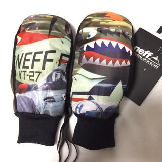 ネフ(Neff)の【新品】 neff デザイン ミトン グローブ 戦闘機スノーボード 数量限定(ウエア/装備)