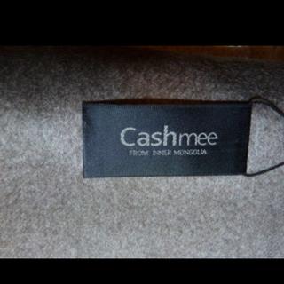 バランタインカシミヤ(BALLANTYNE CASHMERE)のcashmee カシミア ストール グレー 手袋(ストール/パシュミナ)