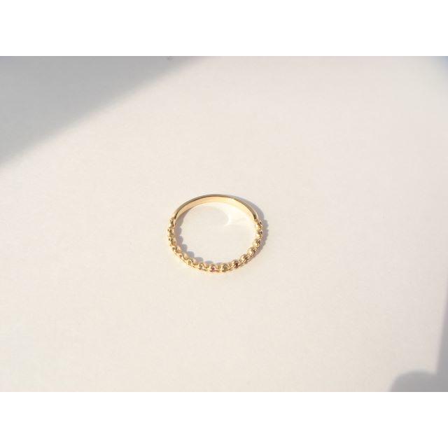 マルチカラー7色 アミュレット ハーフエタニティー リング 10号 K10YG レディースのアクセサリー(リング(指輪))の商品写真