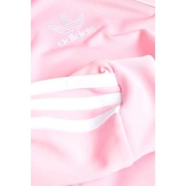 adidas(アディダス)のセール!新品!adidasピンクトラックトップ キッズ/ベビー/マタニティのキッズ服 女の子用(90cm~)(ジャケット/上着)の商品写真