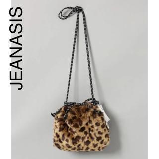 ジーナシス(JEANASIS)の美品 JEANASIS ジーナシス  ファー キンチャク バッグ レオパード(ショルダーバッグ)