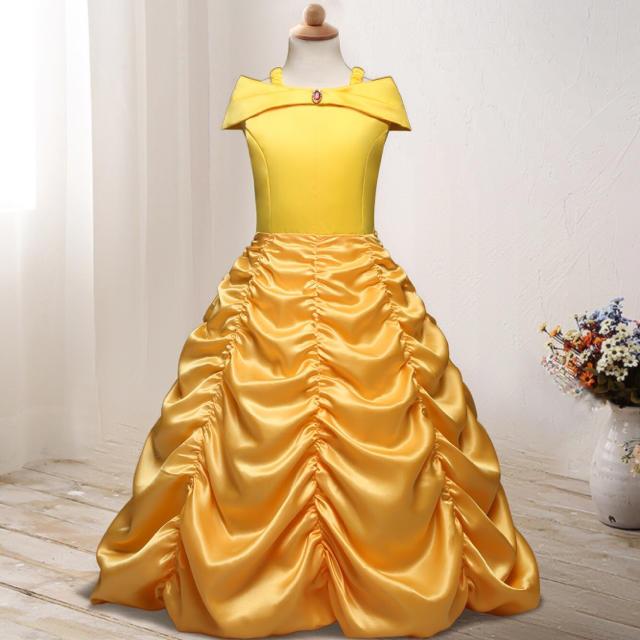 9608e107383f6 美女と野獣 ベル 風 ドレス ディズニー プリンセス 衣装 キッズ ベビー マタニティのキッズ