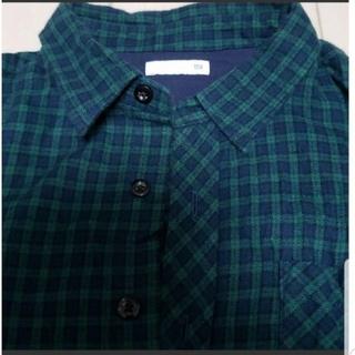 ジーユー(GU)のGU キッズ チェックシャツ 150(ブラウス)