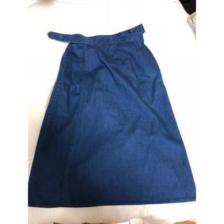 ザラ(ZARA)のZARA人気完売 巻きデニムスカート(ロングスカート)