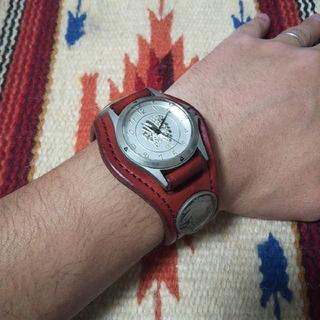 ケイシイズ(KC,s)のKCs ケーシーズ インディアンジュエリー コンチョ レザーベルト メンズ腕時計(腕時計(アナログ))