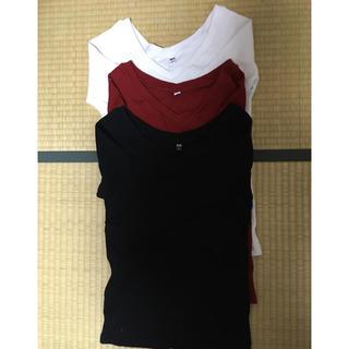 ユニクロ(UNIQLO)のUNIQLO リブバレエネックTシャツ(カットソー(長袖/七分))