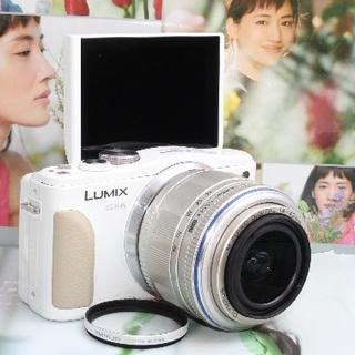 Panasonic - ❤️Wi-Fi内蔵&自撮り自由自在❤️LUMIX GF6 ホワイト❤️