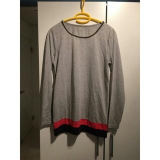 グレーカットソー(Tシャツ(長袖/七分))