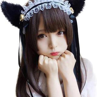 姫カット ウイッグ 黒髪(ロングストレート)