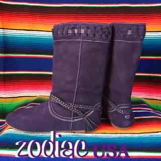 ゾディアック(ZODIAC)のZodiacゾディアックUS限定purpleスウェードブーツ24cmUS7(ブーツ)