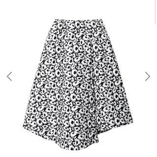 ルシェルブルー(LE CIEL BLEU)の値下げ  Optical Flower Jacquard Skirt(ひざ丈スカート)