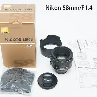 Nikon - ニコン Fマウント Nikon AF-S NIKKOR 58mm f/1.4 G