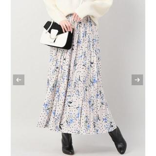 イエナ(IENA)の【新品・タグ付き】IENA ドットフラワープリーツスカート  38(ロングスカート)