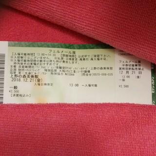 フェルメール展 チケット(美術館/博物館)