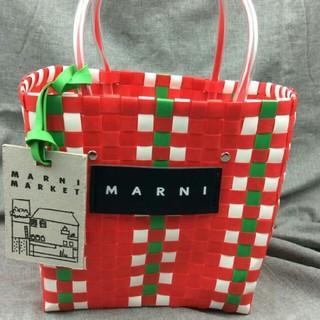 純手作り編み物  Marni ハンドバッグ  新品  未使用品 レディース(かごバッグ/ストローバッグ)